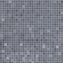 Roman Mosaic Blue Grey Shower Panel