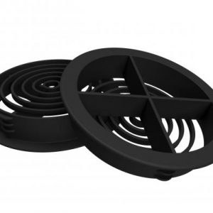 70mm Circular Soffit Vent Black