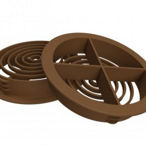 70mm Circular Soffit Vent Brown