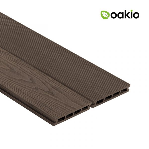 Oakio Dark Brown Composite Decking