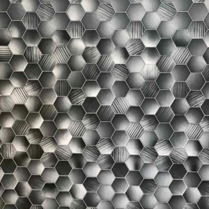 Honeycomb Hex Grey (Matt) Shower Panel