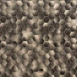 Honeycomb Hex Bronze (Matt) Shower Panel