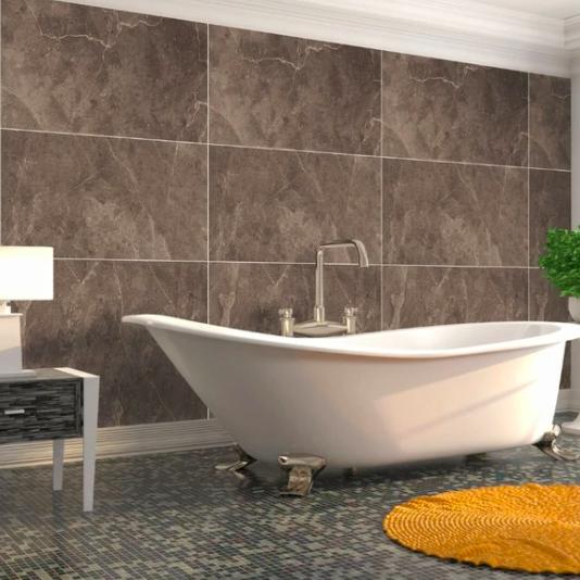 Honeycomb Tile Bronze (Matt) Shower Panel Display Room