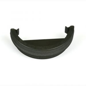 Roundstyle Cast Iron Effect External Stopend Black