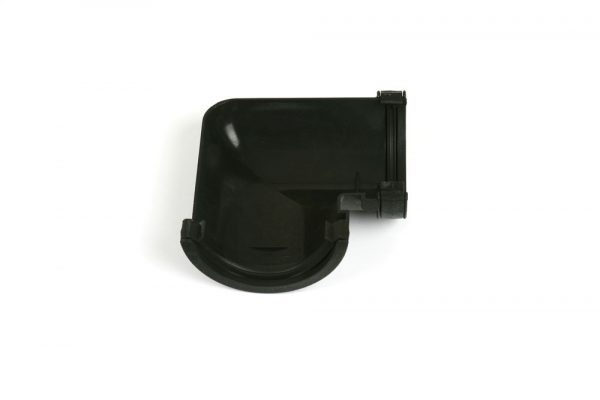 90° Gutter Angle Roundstyle Cast Iron Effect Black