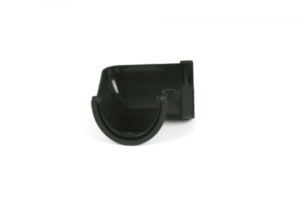 90° Gutter Angle Deepstyle Cast Iron Effect Black