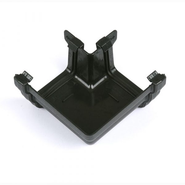 90° External Gutter Angle Prostyle Cast Iron Effect Black