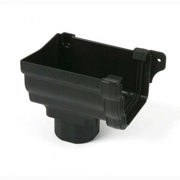 Prostyle Cast Iron Effect Left Hand Stopend Outlet Black
