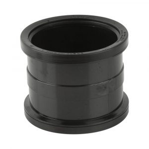 Double Socket Industrial Pipe Connector Black