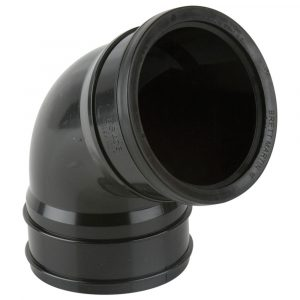 112.5° Industrial Single Socket Top Offset Black