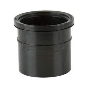 Single Socket Industrial Pipe Connector Black