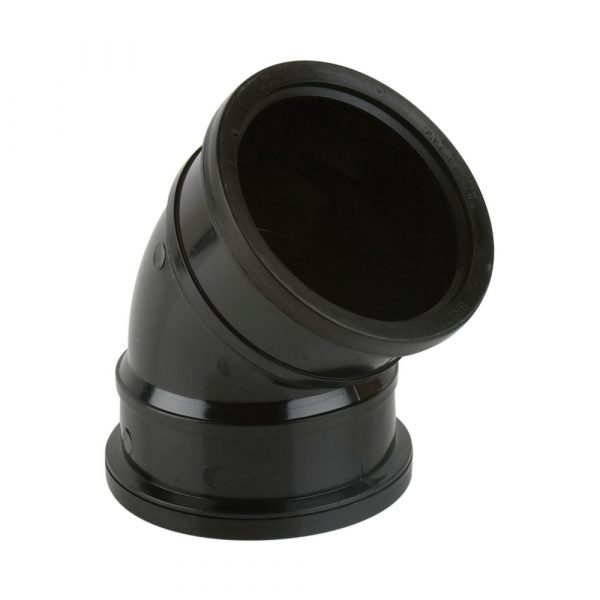 135° Industrial Double Socket Bend Black