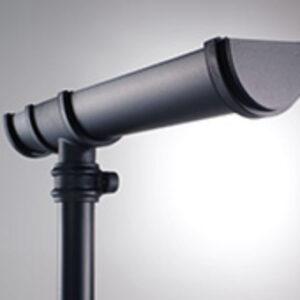 Black 115mm Deepstyle Cast Iron Style Gutter