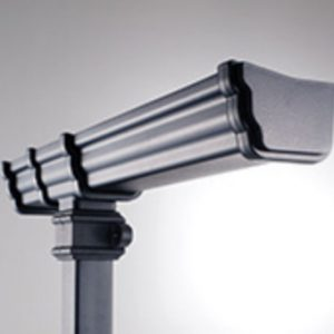 Black 106mm Prostyle Cast Iron Style Gutter