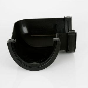 90° Gutter Angle Deepstyle Industrial Cast Iron Effect Black