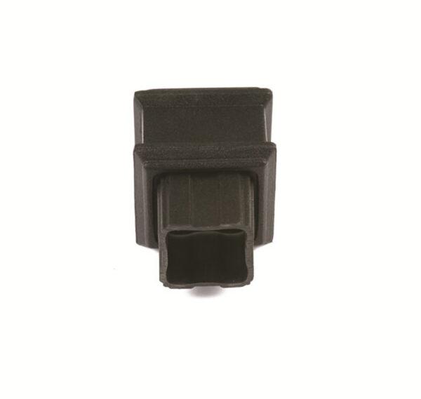 Square Plain Coupler Cast Iron Effect Black