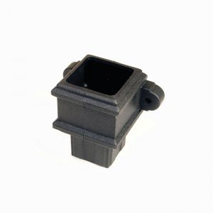 Square Pipe Coupler With Lugs Cast Iron Effect Black