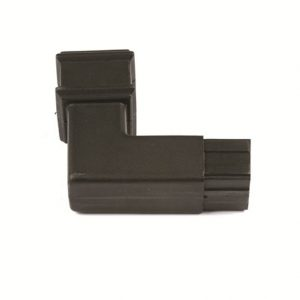 92.5° Square Spigot Bend Cast Iron Effect Black
