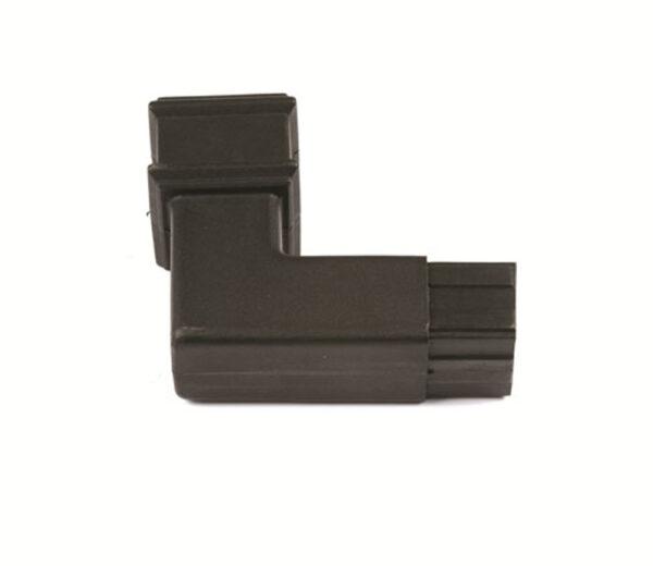 92.5° Square Spigot Bend Cast Iron Effect Black
