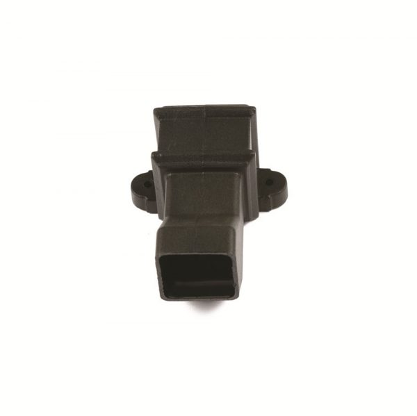 Square Anti-Splash Shoe With Lugs Cast Iron Effect Black