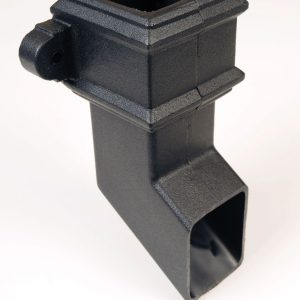 Square Shoe With Lugs Cast Iron Effect Black