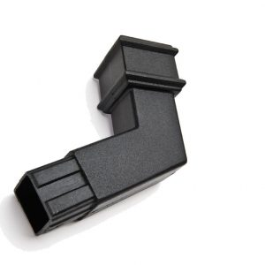 135° Square Spigot Bend Cast Iron Effect Black