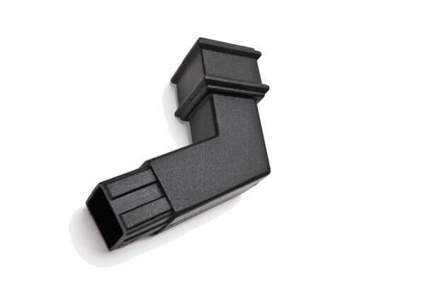 135° Square Spigot Bend Cast Iron Effect Black