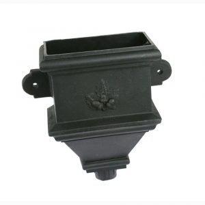 Bath Hopper Cast Iron Effect Black