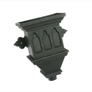 Gothic Hopper Cast Iron Effect Black