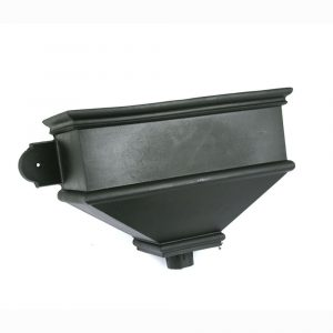 Long Undated Hopper Cast Iron Style Black