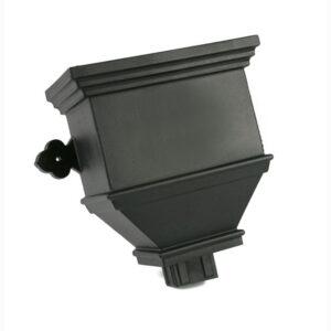 Bath Hopper Plain Industrial Cast Iron Effect Black