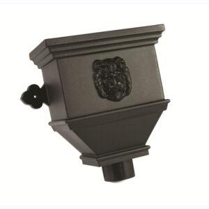 Bath Hopper Lion Industrial Cast Iron Effect Black