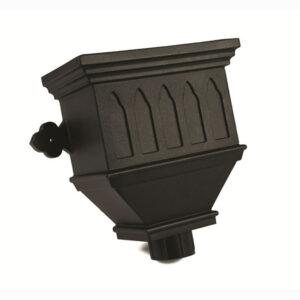 Bath Hopper Windowed Industrial Cast Iron Effect Black