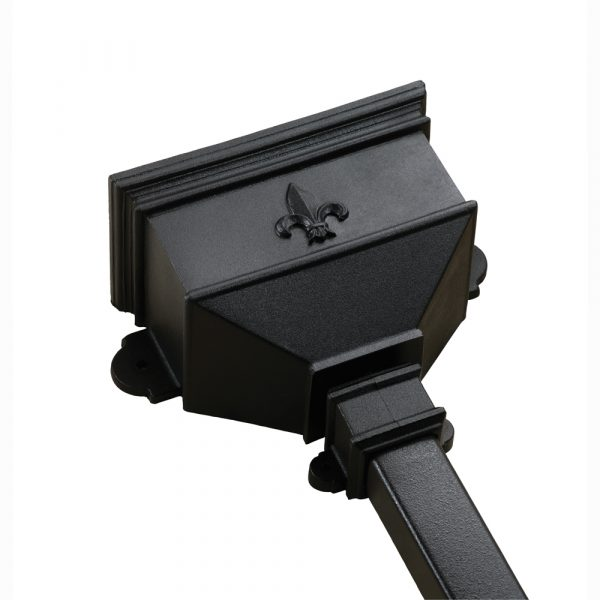 Small Hopper With Fleur De Lys Cast Iron Style Black