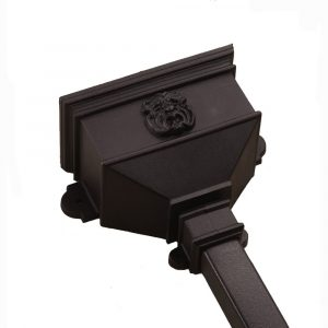 Small Hopper With Gargoyle Cast Iron Style Black
