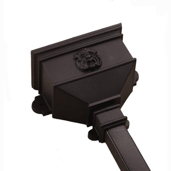 Small Hopper With Gargoyle Cast Iron Style Black