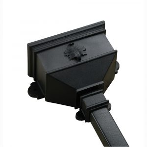 Small Hopper With Leaf Cast Iron Style Black