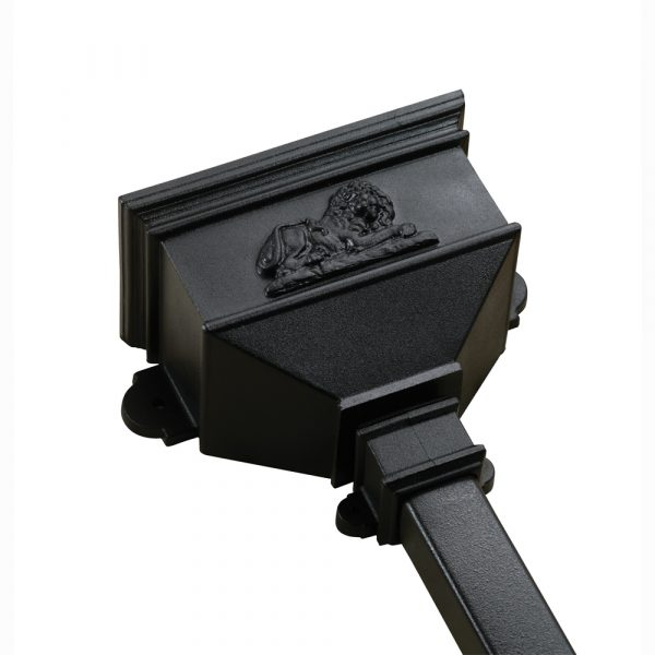 Small Hopper With Lion Cast Iron Style Black