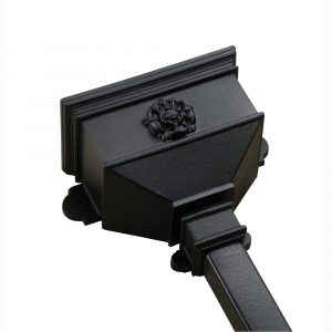 Small Hopper With Tudor Rose Cast Iron Style Black