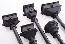 65mm Square & 68mm Round Downpipe Hoppers