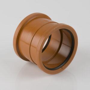 110mm Double Socket PVC (BS) Coupler