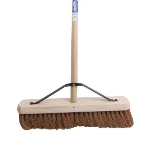 Soft Coco Broom 450mm (18 inch) + Handle & Stay